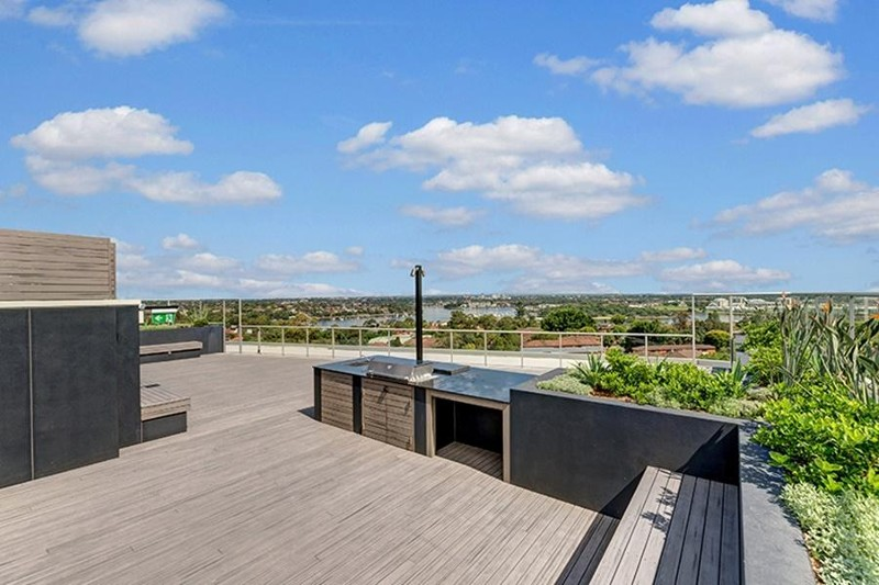 Common Rooftop BBQ - 510/1 Wharf Rd, Gladesville - Apartment for Rent in Gladesville