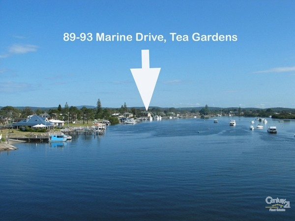 Location shot - 89-93 Marine Drive, Tea Gardens - Commercial Property for Sale in Tea Gardens