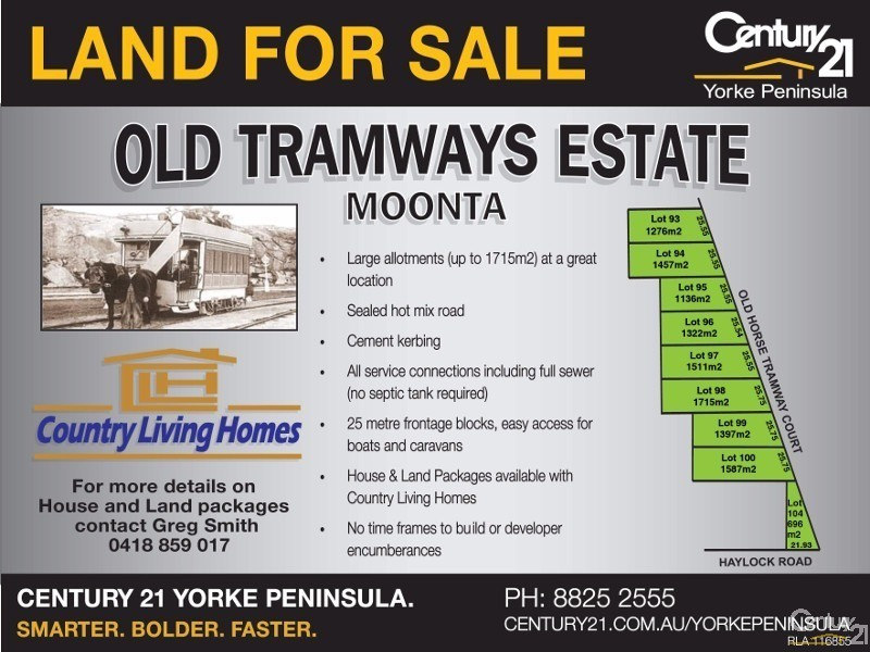 Lot 98 Old Horse Tramway Court, Moonta Bay - Land for Sale in Moonta Bay