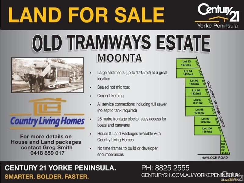 Lot 100 Old Horse Tramway Court, Moonta Bay - Land for Sale in Moonta Bay