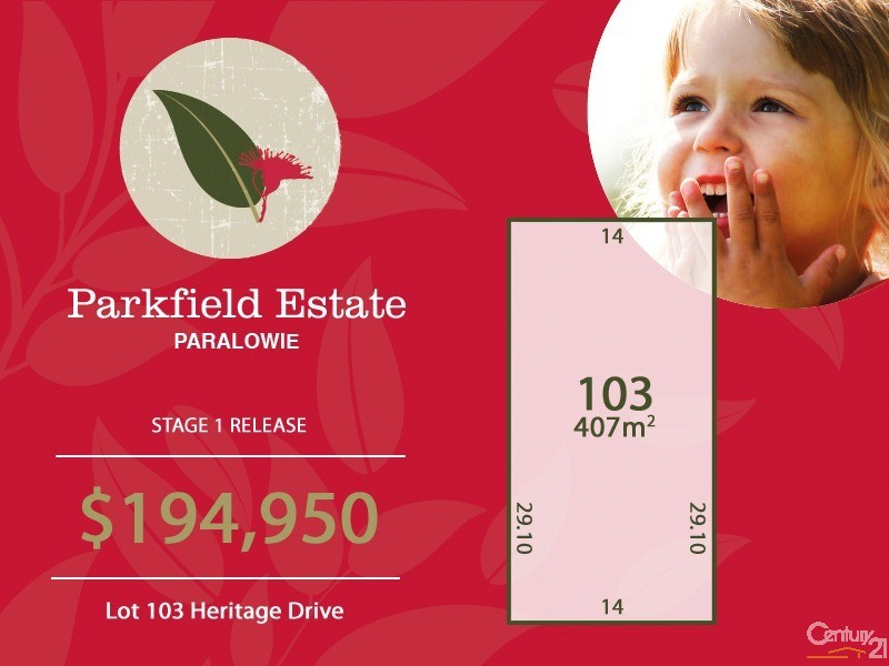 Lot 103 Heritage Drive, Paralowie - Land for Sale in Paralowie