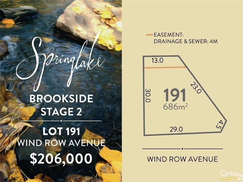Lot 191 Wind Row Avenue, Mount Barker - Land for Sale in Mount Barker