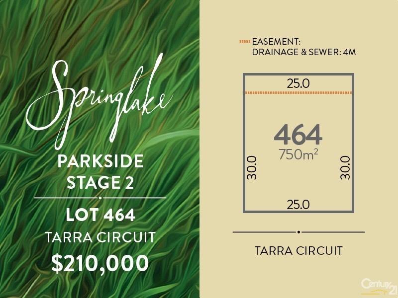 Lot 464 Tarra Circuit, Mount Barker - Land for Sale in Mount Barker