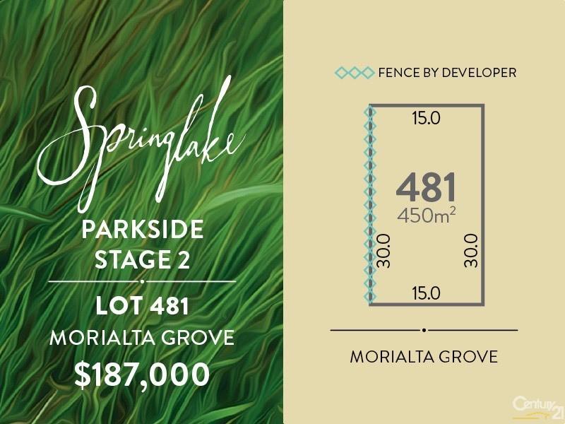 Lot 481 Morialta Grove, Mount Barker - Land for Sale in Mount Barker