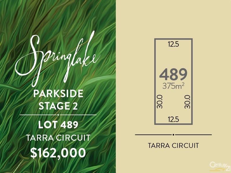 Lot 489 Tarra Circuit, Mount Barker - Land for Sale in Mount Barker