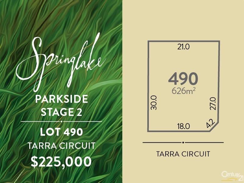 Lot 490 Tarra Circuit, Mount Barker - Land for Sale in Mount Barker