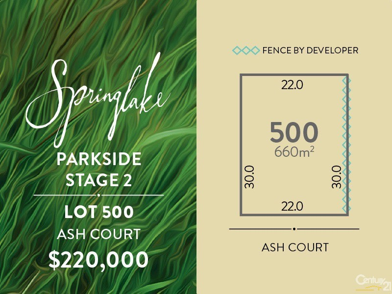 Lot 500 Ash Court, Mount Barker - Land for Sale in Mount Barker