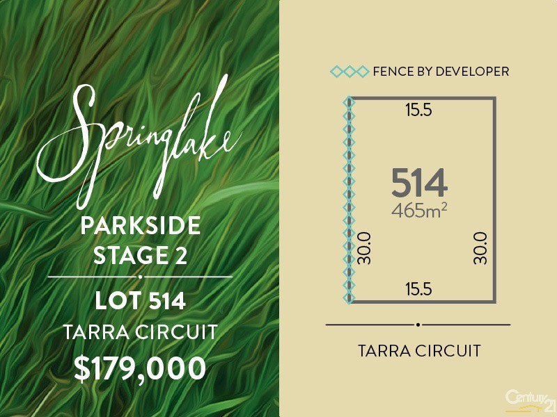 Lot 514 Tarra Circuit, Mount Barker - Land for Sale in Mount Barker