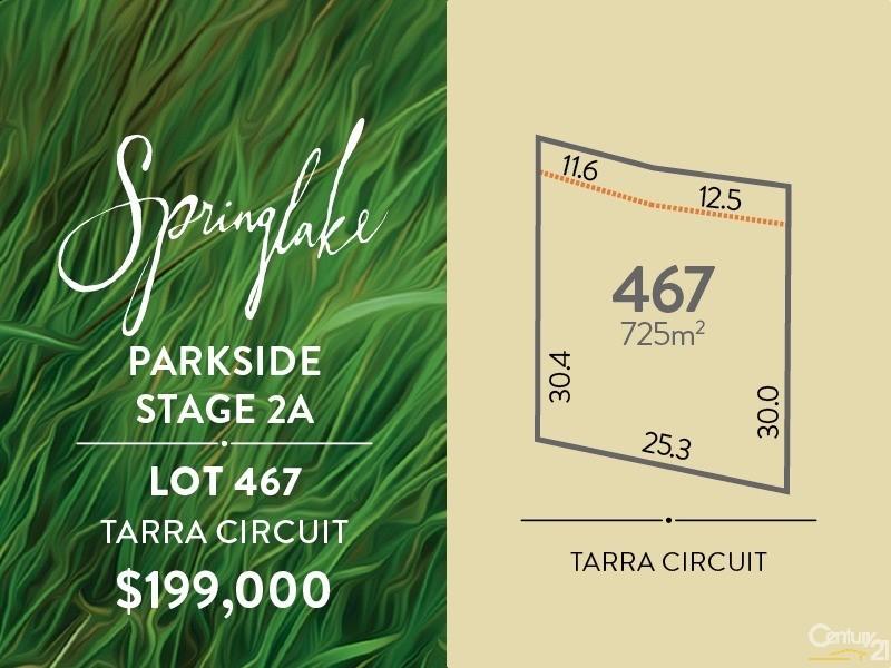 Lot 467 Tarra Circuit, Mount Barker - Land for Sale in Mount Barker