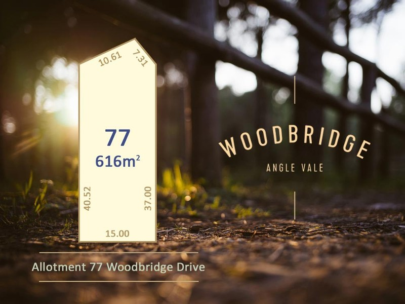 Lot 77 Woodbridge Drive, Angle Vale - Land for Sale in Angle Vale