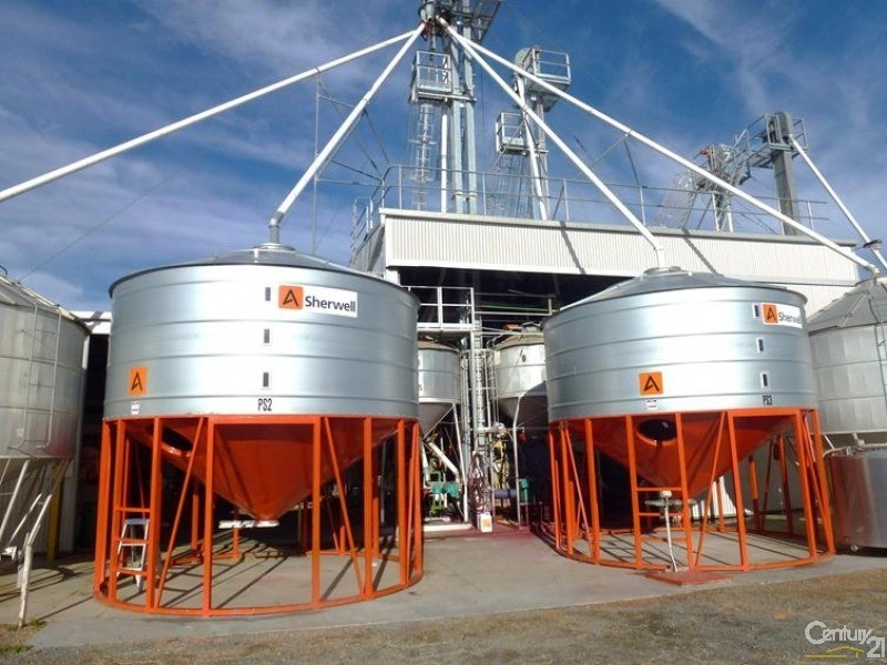 Steep cone silos to handle wetter seed dressing products. - 0 Superior Seed Co. Barham Rd, Deniliquin - Rural Property for Sale in Deniliquin