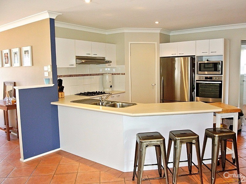Stunning kitchen with stainless steel appliances & breakfast bar - 4 Fidden Place, Tea Gardens - House for Sale in Tea Gardens