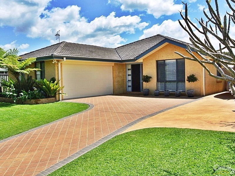 Entry includes access to a double garage with internal access & pad for boat/caravan - 4 Fidden Place, Tea Gardens - House for Sale in Tea Gardens