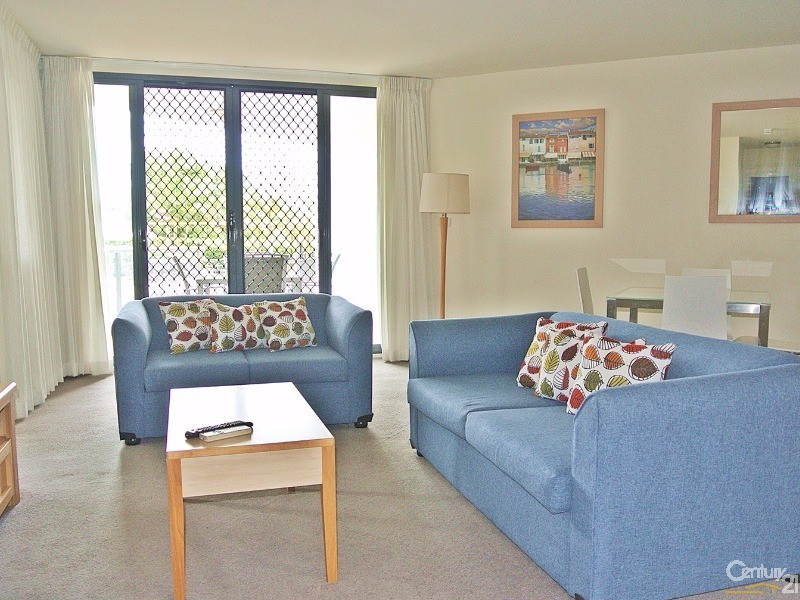 Living area lead to the balcony and pool - 5/ 21-23 Marine Dr, Tea Gardens - Unit for Sale in Tea Gardens