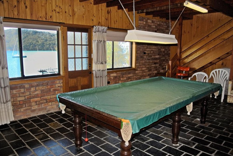 Billiard room with access to the gardens & water - 116 Cove Boulevard, North Arm Cove - House for Sale in North Arm Cove