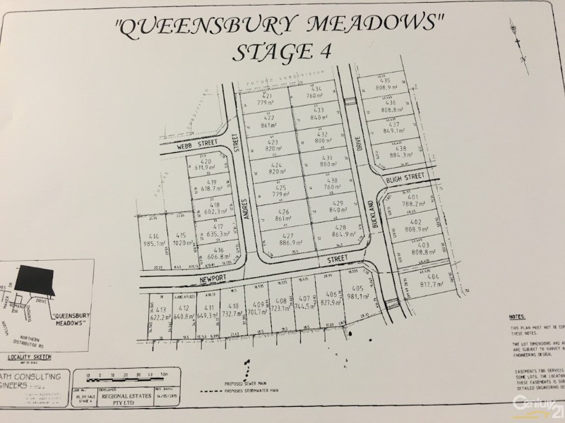 LOT 406 NEWPORT STREET - 827.9SQM, Orange - Land for Sale in Orange